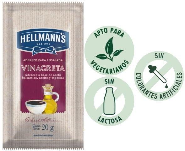 Hellmann's® Vinagreta 20g - Aderezo Hellmann's® a base de aceto balsámico, aceite y especias - para ensaladas en tus entregas a domicilio.