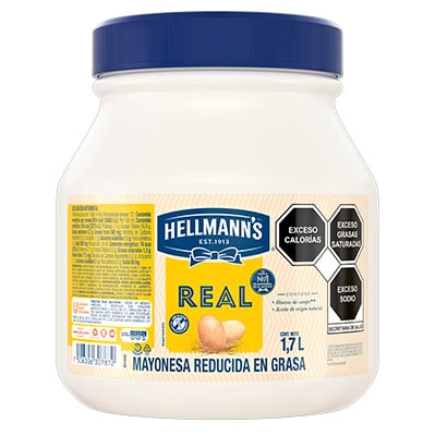 Hellmann's® Mayonesa Real 1.7 L - Hellmann's® Mayonesa Real de 1.7L, sabor irresistible con huevos de campo y aceites de origen natural.