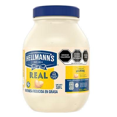 Hellmann's® Mayonesa Real 3.8 L - Hellmann's® Mayonesa Real de 3kg, sabor irresistible con huevos de campo y aceites de origen natural.