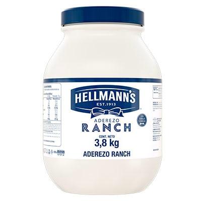 Hellmann's ® Aderezo Ranch Economy 3,8 kg (3,7L) - Hellmann's® Aderezo Ranch es ideal para ensaladas sándwiches, dips y acompañamientos para snacks o entradas. Con cebolla y especias.