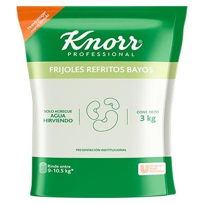 Knorr® Professional Frijoles Refritos Bayos - Knorr® Frijoles Refritos Bayos 3kg,  el mejor Frijol bayo deshidratado