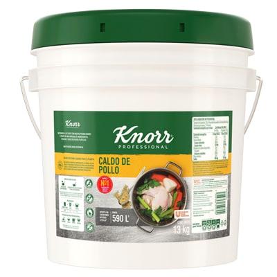 Knorr® Professional Caldo de Pollo 13 Kg - Knorr® Professional Caldo de Pollo 13 kg, receta con hierbas y especias seleccionadas e inigualable sabor a pollo.