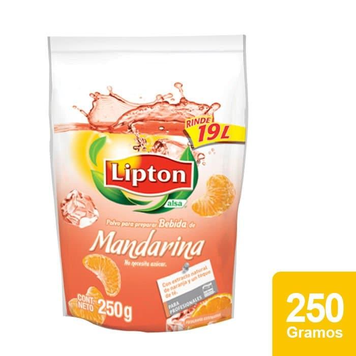 Lipton® Polvo para preparar Bebida sabor Mandarina 250 g -