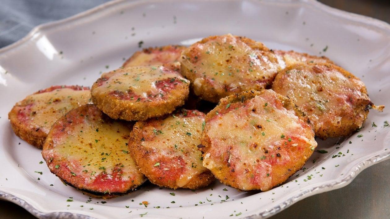 Crunchy Láminas de Berenjenas a la Napolitana